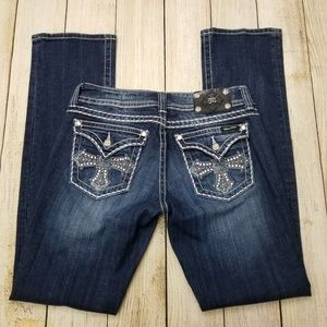 Miss me buckle bling straight leg jeans 33 inseam